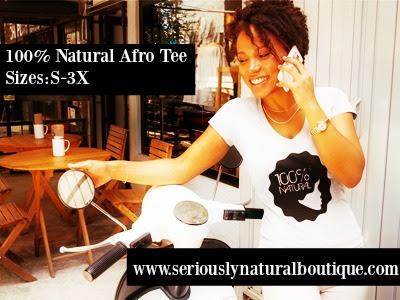 100% Natural Afro Seriously Natural Tee