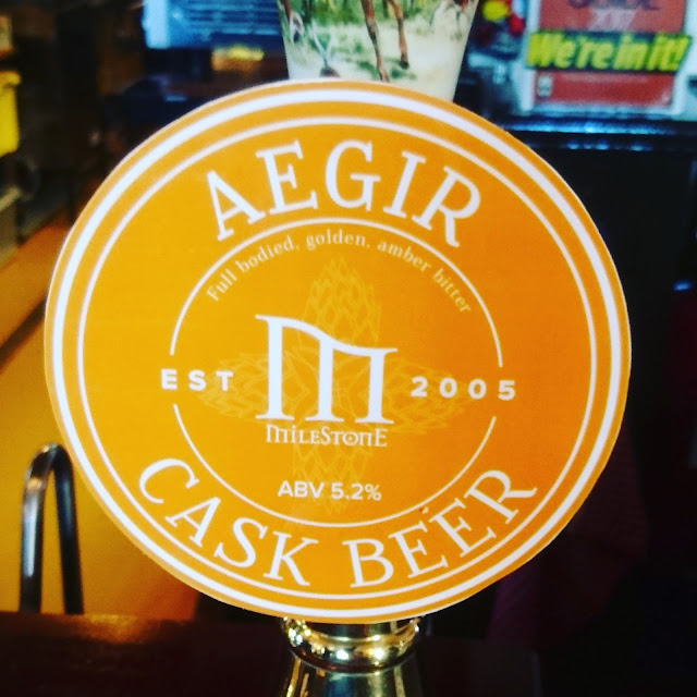 Nottinghamshire Craft Beer Review: Aegir from Milestone Brewing real ale pump clip