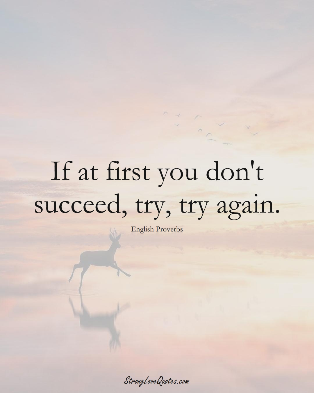 If at first you don't succeed, try, try again. (English Sayings);  #EuropeanSayings