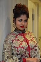 Anya South Actress model in Red Anarkali Dress at Splurge   Divalicious curtain raiser ~ Exclusive Celebrities Galleries 039.JPG