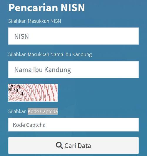 2 (Dua) Cara/ Metode Mudah Cek dan Cari Data NISN Siswa Tahun 2021 Terbaru