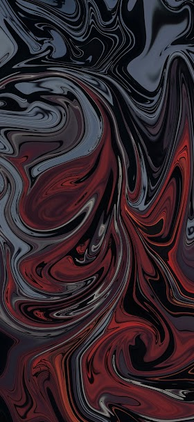 خلفية تداخل جميل من الالوان الزيتية الحمراء الداكنة والسوداء