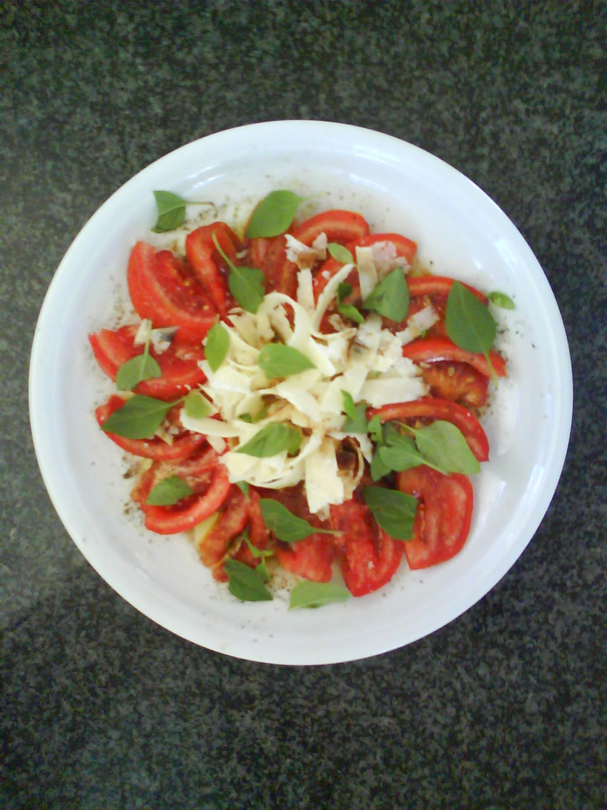 Tomato and pecorino salad