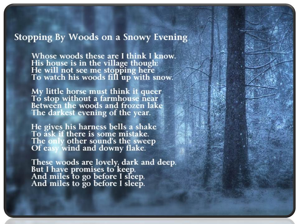Radhu Stopping By Woods On A Snowy Evening By Robert Frost