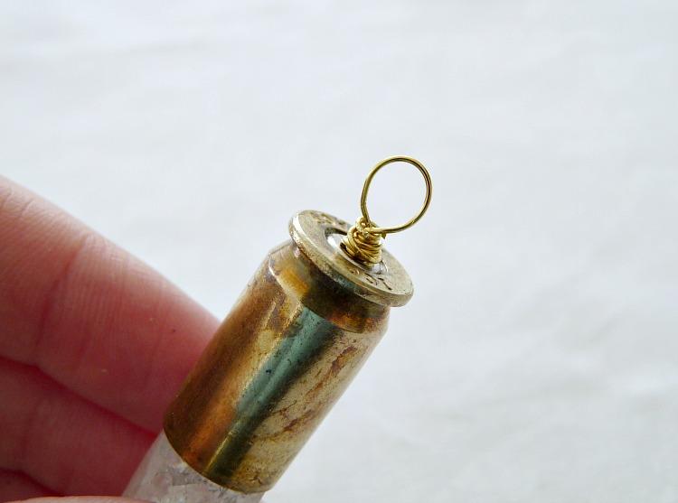 DIY shell casing pendant