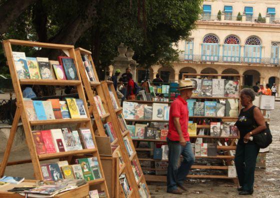 El mercado de libros de la Habana Vieja