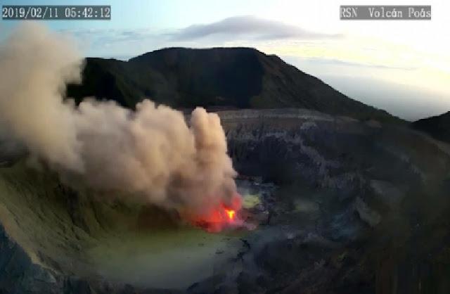 volcan poas costa rica erupcion