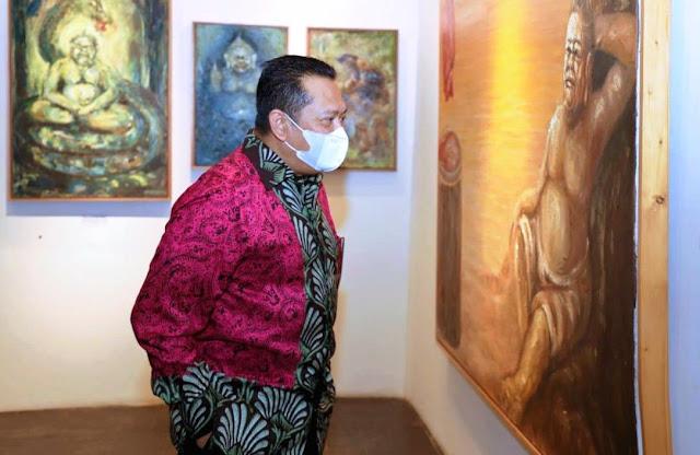 Membuka Kesadaran Spiritual dalam Pameran Lukisan 'Semar Ngruwat Jagad'