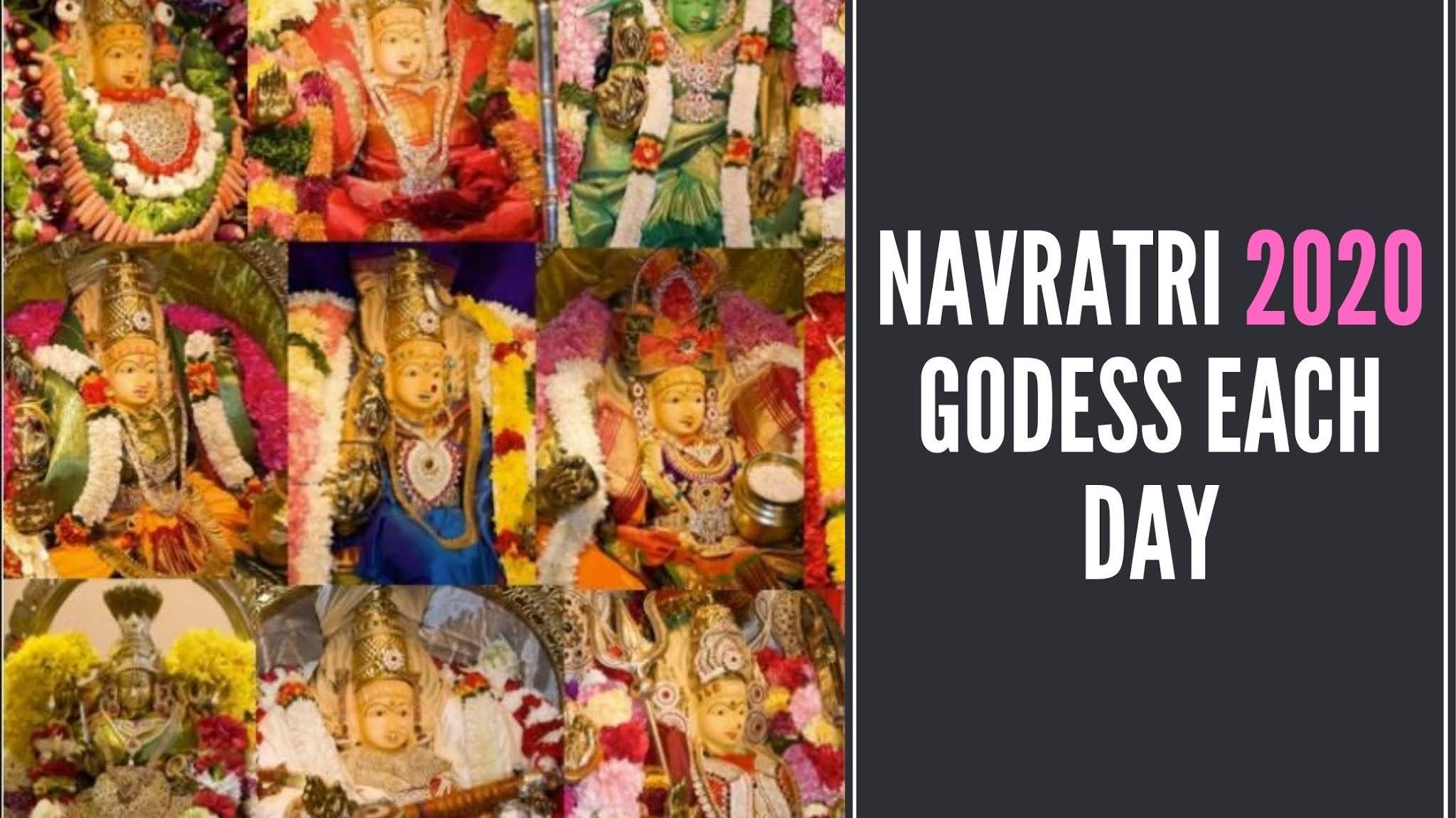 Navratri Goddess Each Day