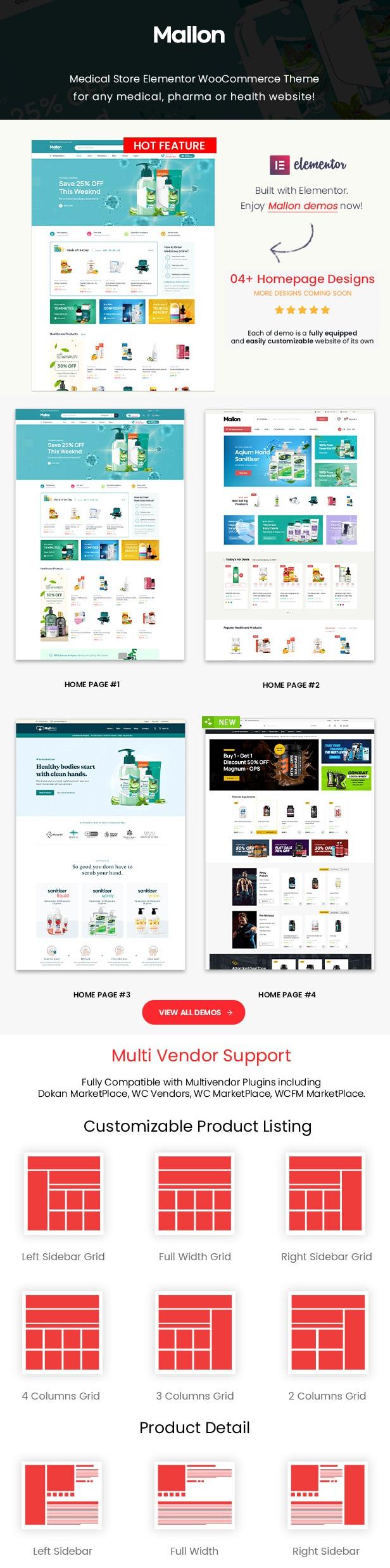 Medical Store Elementor WooCommerce WordPress Theme