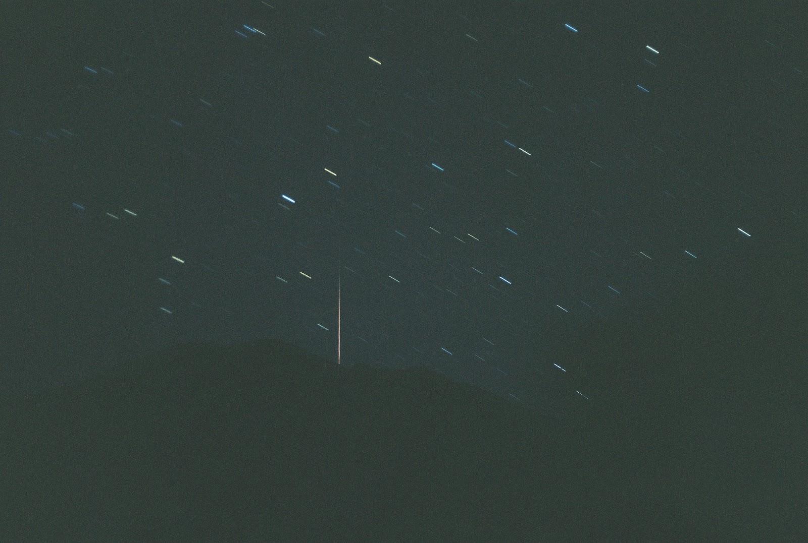 観音岳 流れ星
