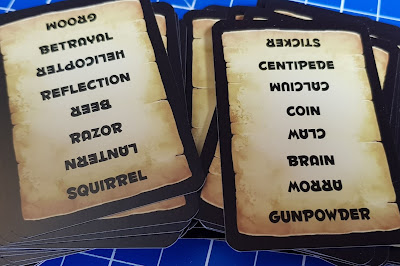 Trapwords Czech edition game  word cards to guess fantasy and regular words