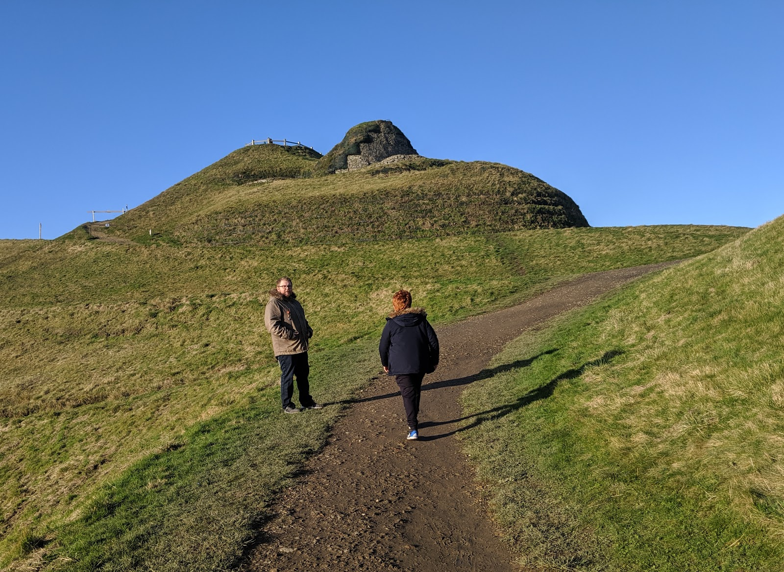A Guide to Visiting Northumberlandia - climbing to the top