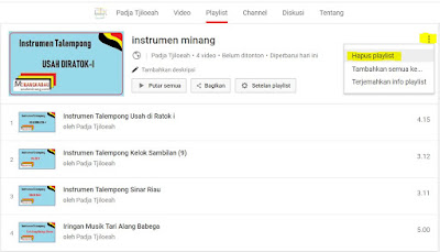 Cara Menghapus Playlist di Akun Youtube 4