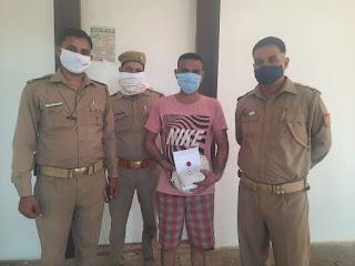 कोतवाली झाँसी पुलिस द्वारा अवैध गाँजा के साथ अभियुक्त को गिरफ्तार किया