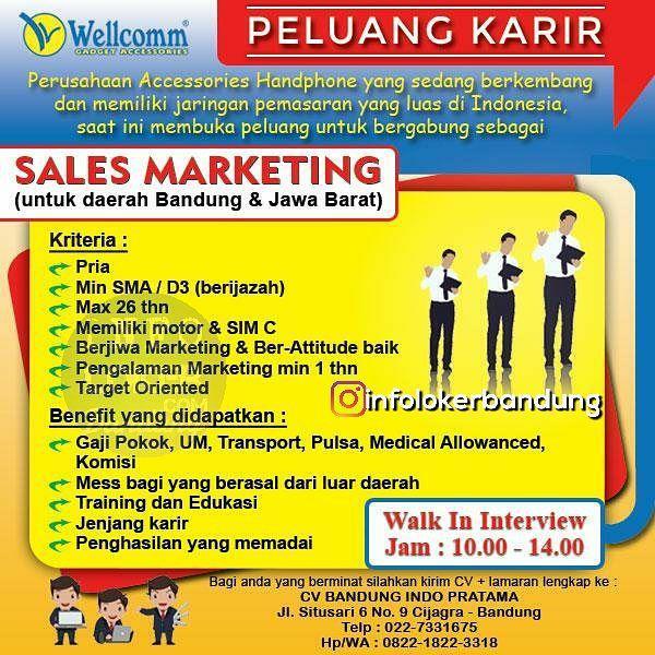 Lowongan Kerja CV. Bandung Indo Pratama ( Wellcomm Gadget Accessories ) November 2017