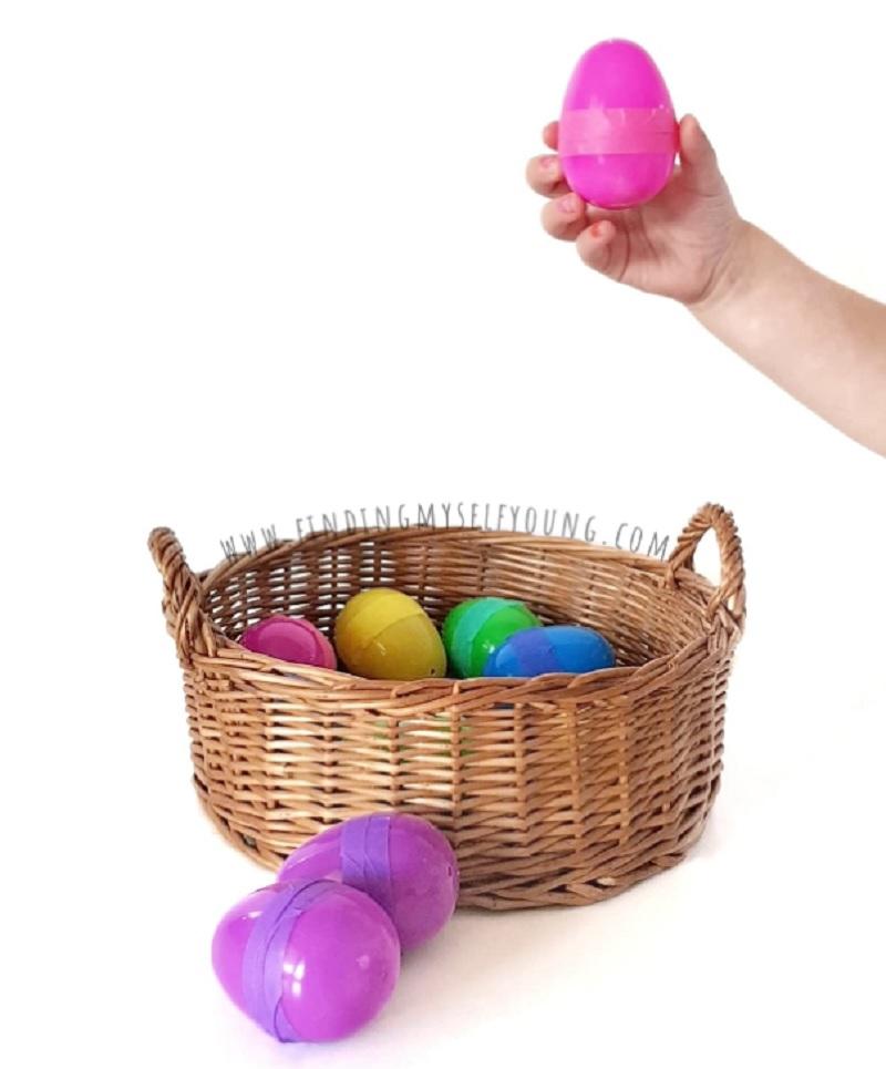 plastic easter egg sensory shakers