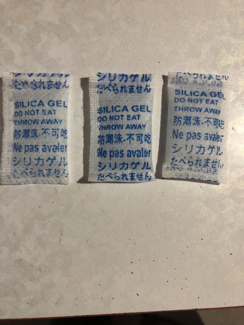 hạt hút ẩm 2g gói mầu xanh