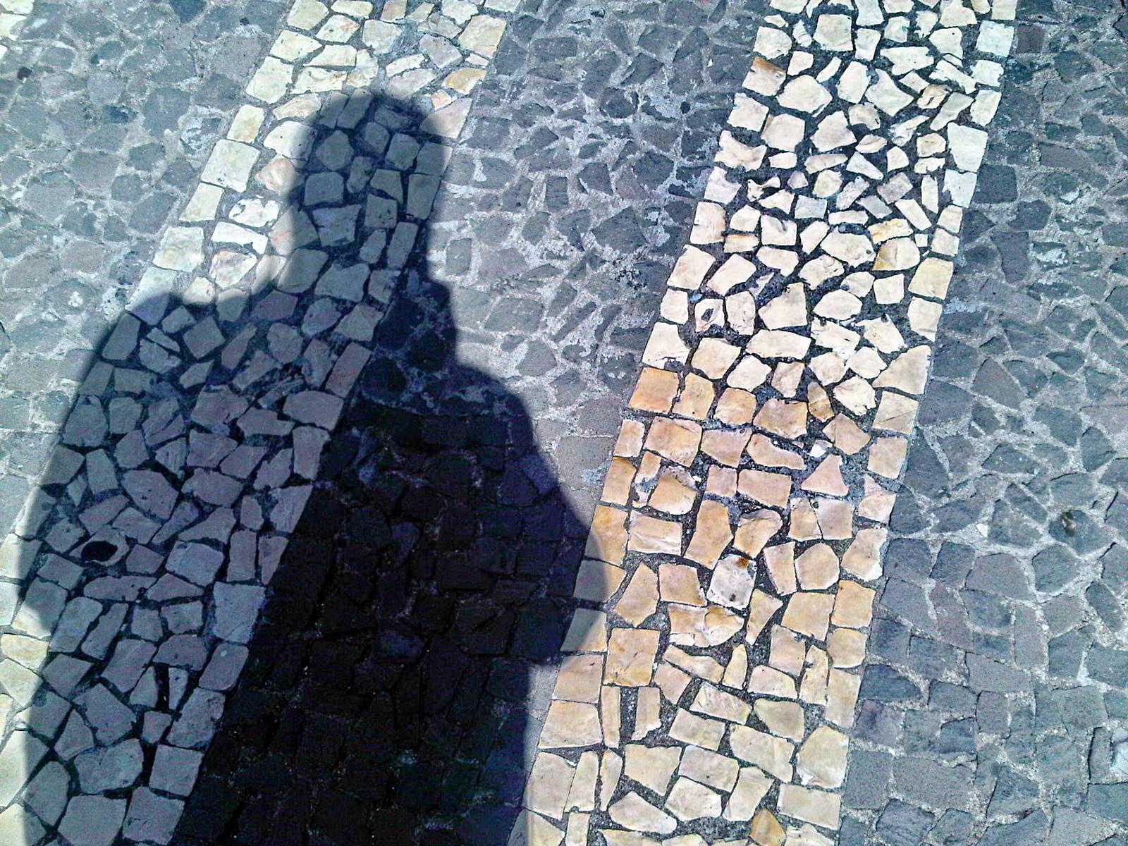 """my shadow in """"calçada portuguesa"""""""
