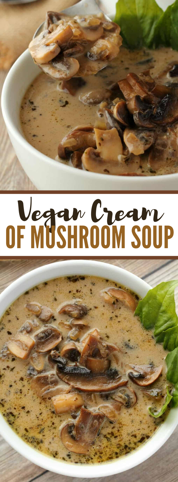 Vegan Cream Of Mushroom Soup #vegetarian #lunch