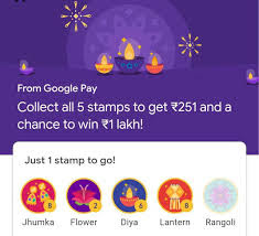 Now Get Rangoli and Flower stamps in Google Pay