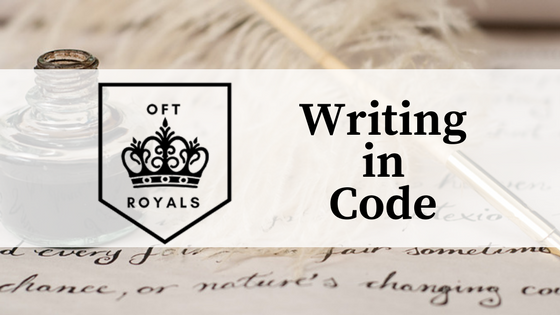 Writing In Code Bonus Diy Invisible Ink Royals Lessons