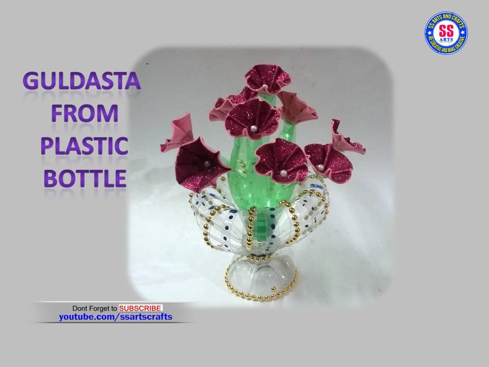 Guldasta From Plastic Bottle And Glitter Foam Sheet
