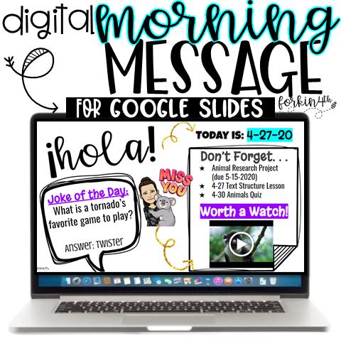 digital morning message