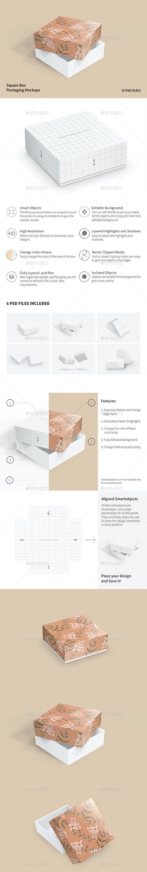 GraphicRiver Square Box Packaging Mockups 32358611.