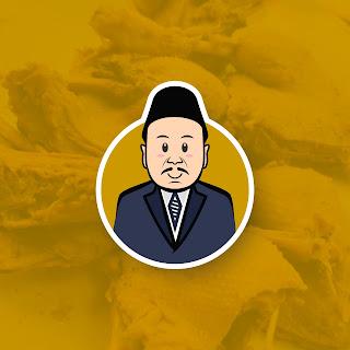 Desain Logo Maskot Karakter Bebek Ungkep Pak Lowung