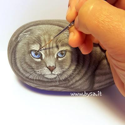 Sassi dipinti  gatti prezzi fermacarte