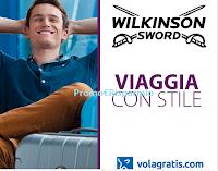Logo Concorso Wilkinson ''Viaggia con stile'': in palio 17 voucher Volagratis da 200€