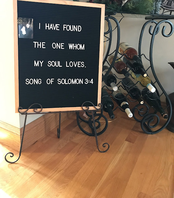 i have found the one whom my soul loves letterboard