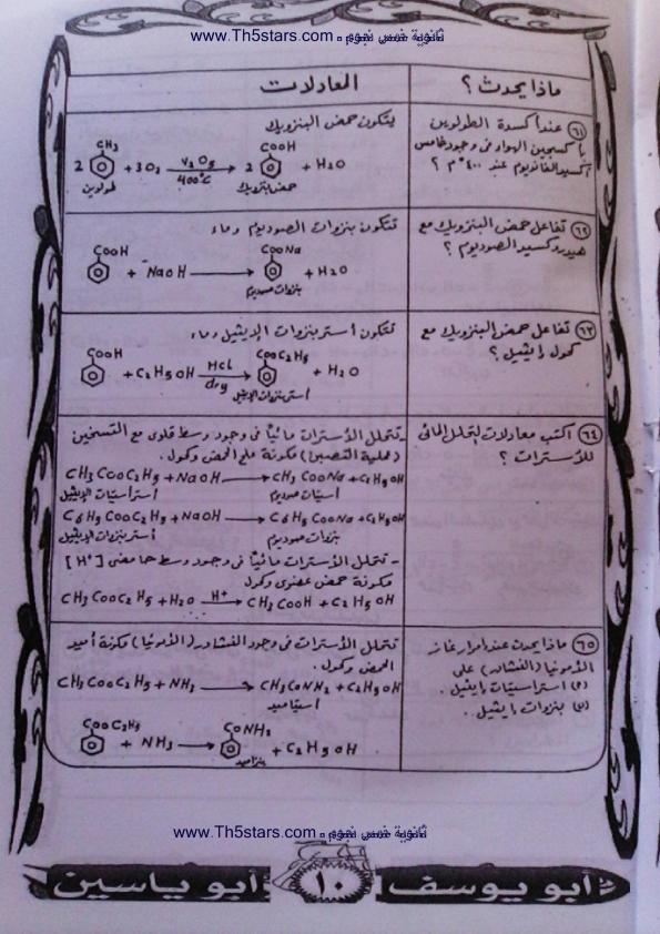 مراجعة الكيمياء العضويه للصف الثالث الثانوي 0%2B%252810%2529