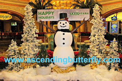 Happy Holidays Snowman Tropicana Atlantic City Casino 2015 Holiday Tree Lighting