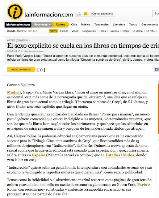 La Información | Otro libro calentón, curioso, con mucho humor y de mucho éxito es el libro de la escritora catalana Roser Amills