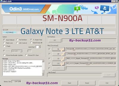 سوفت وير هاتف Galaxy Note 3 LTE AT&T موديل SM-N900A روم الاصلاح 4 ملفات تحميل مباشر