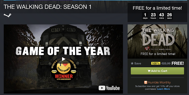 The Walking Dead Season 1 gratis para Steam (PC)