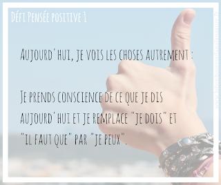 exemple défi pensée positive exercice 1