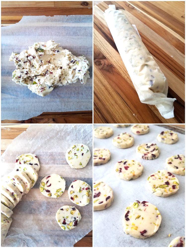 Cómo darle forma a las galletas en forma cilíndrica para cortarlas