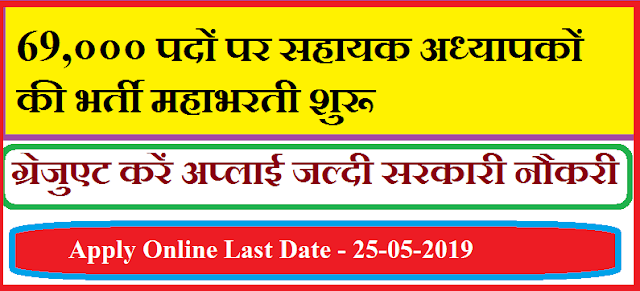 Latest UPBEB Recruitment 2019-20 - 69,000 Vacancies for Assistant Teacher notification announced