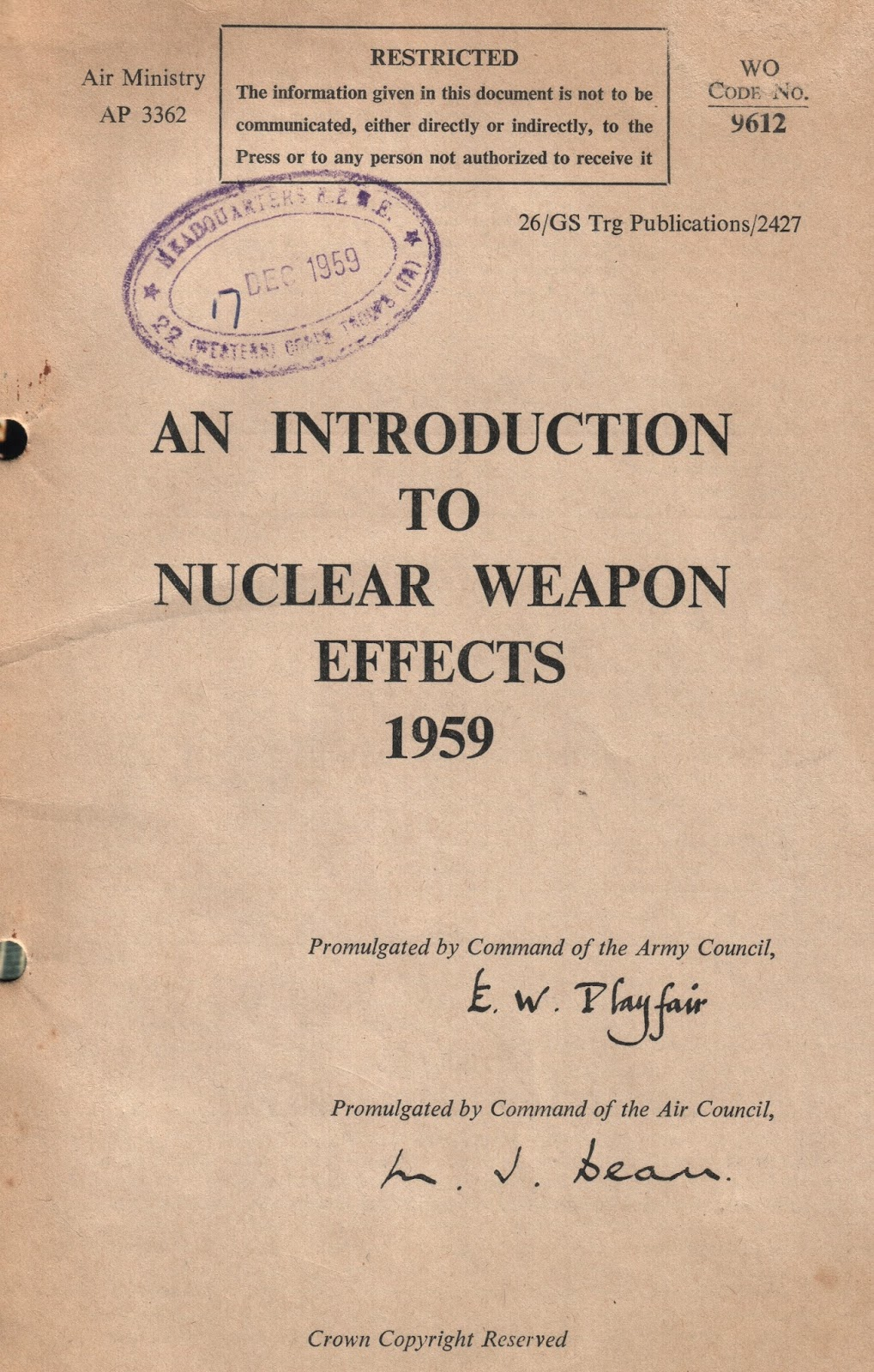 Effects of nuclear weaponry on warfare