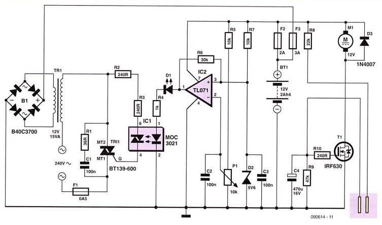 12 Volt Cellar Drain Pump Circuits Projects