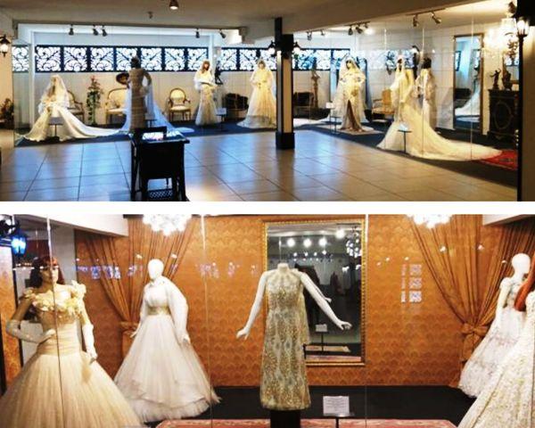 Vestidos de noiva no Museu da Moda, em Canela