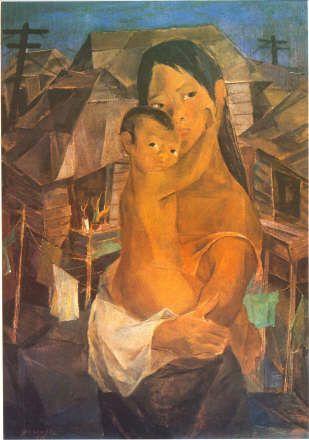 'Madonna of the Slums' by Vicente Manansala