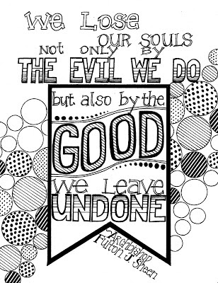 Look to Him and be Radiant: Sheen Quote Coloring Page