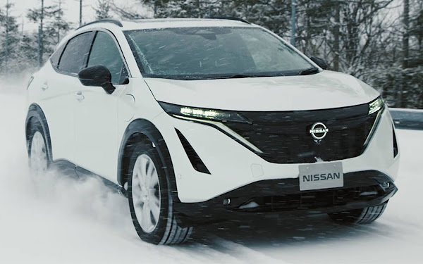 Nissan Ariya: suv elétrico em testes inverno rigoroso de Hokkaido