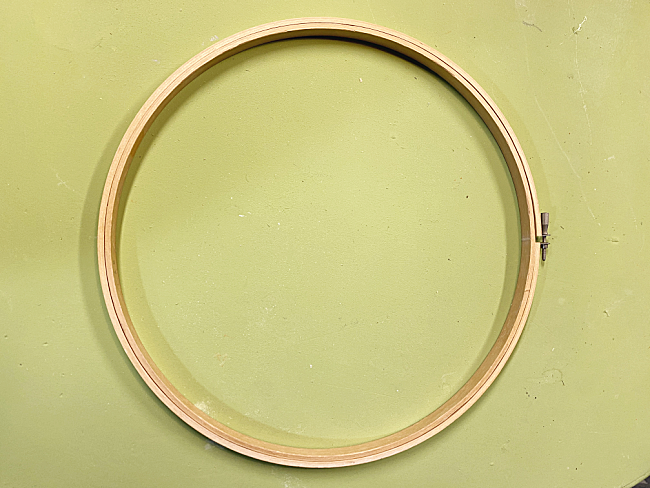 2 piece embroidery hoop
