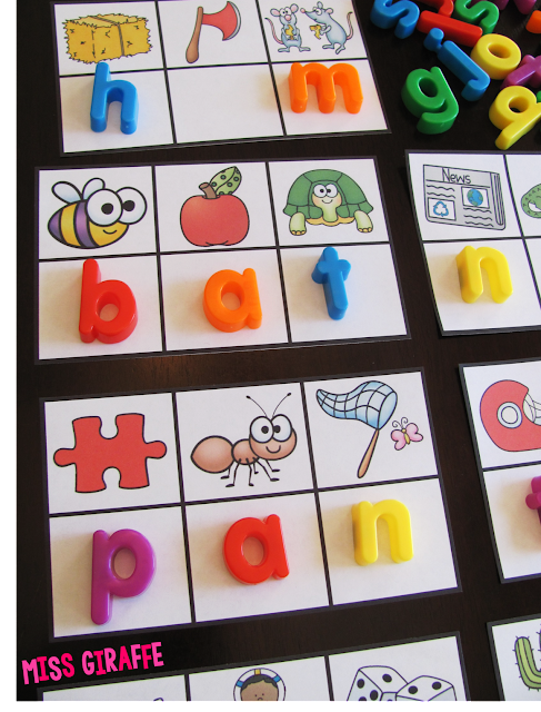 Secret CVC words where kids look at each picture to figure out its beginning sound to figure out the secret word! Check out these fun word work ideas!