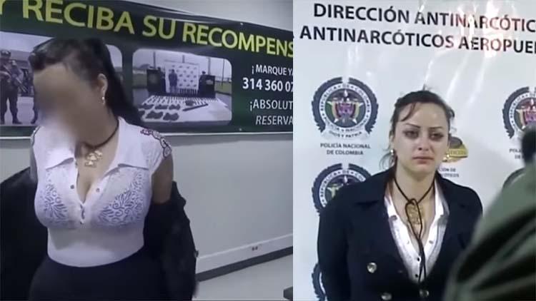 VIDEO: VOLUPTUOSA MUJER INTENTA VIAJAR CON VARIOS KILOS DE COCAÍNA PERO ES DETENIDA